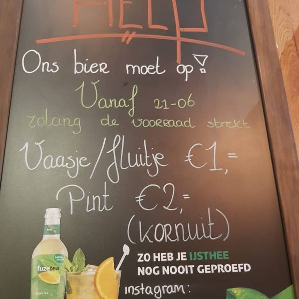 A BEER FOR ONLY 1 EURO.